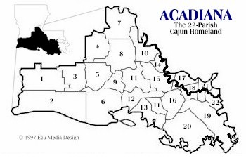 Map of Acadiana